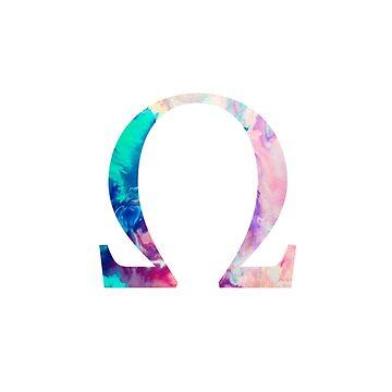Rainbow Marble Omega by AdventureFinder