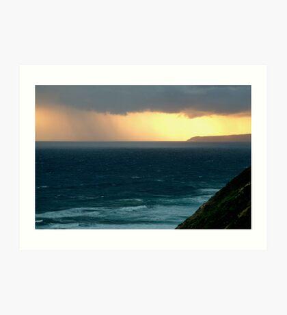 Sunset Rain, Cape Otway,Great Ocean Road Art Print