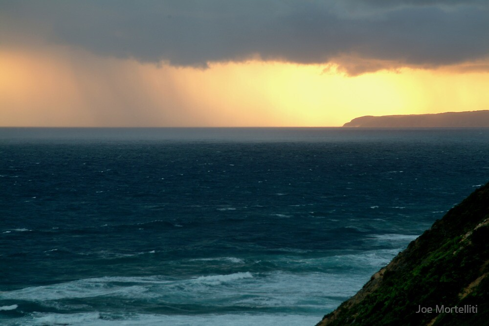 Sunset Rain, Cape Otway,Great Ocean Road by Joe Mortelliti