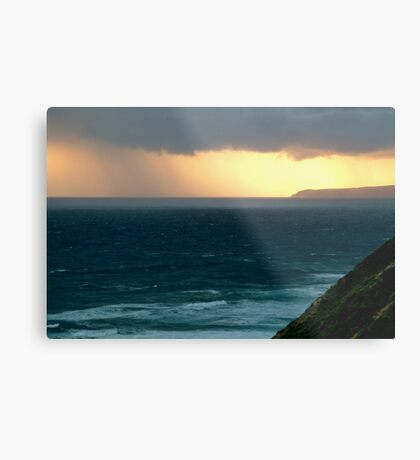 Sunset Rain, Cape Otway,Great Ocean Road Metal Print