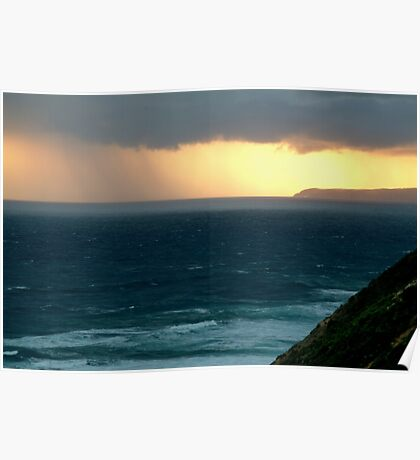 Sunset Rain, Cape Otway,Great Ocean Road Poster
