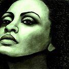 Diana Ross celebrity portrait 100 views by Margaret Sanderson