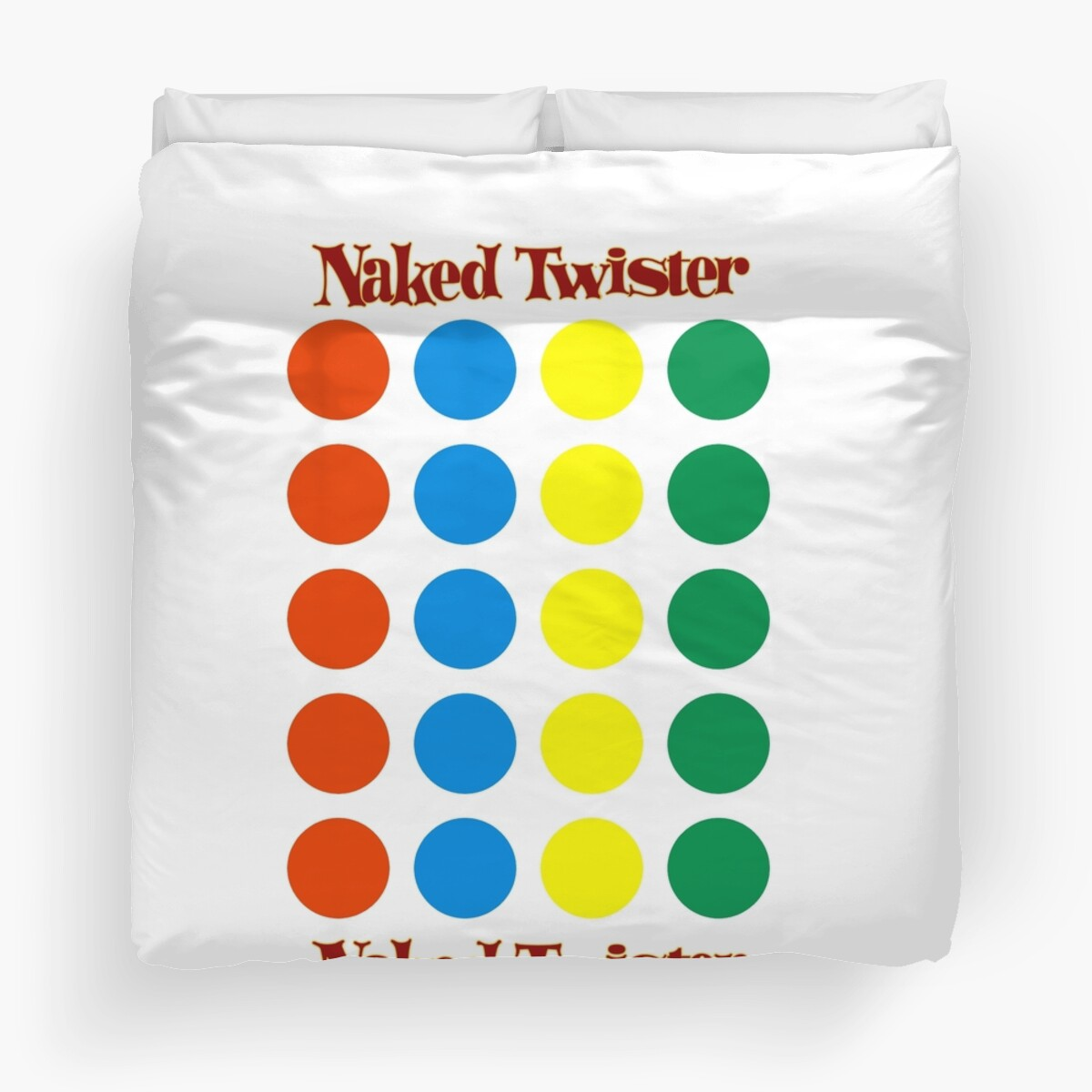Quot Naked Twister Quot Duvet Covers By Brianefisher Redbubble
