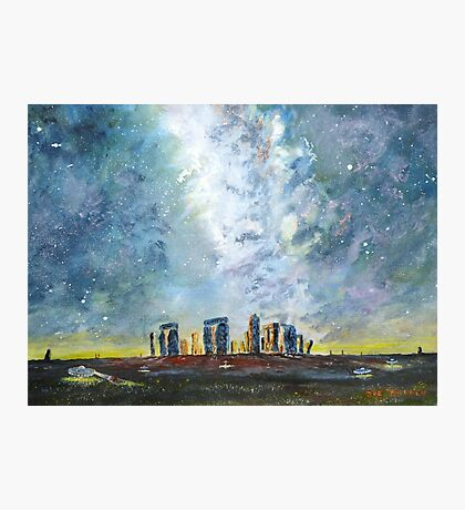 Something strange at Stonehenge Photographic Print