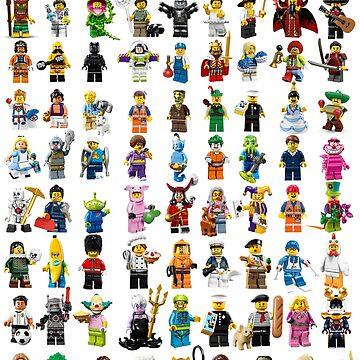 Lego figurines patterm by benbdprod