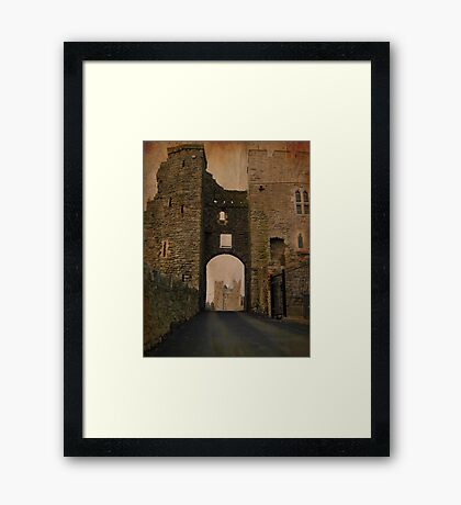 Swords Castle gate Framed Print