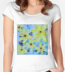 CHEERFUL DAYS  Women's Fitted Scoop T-Shirt