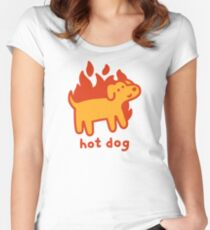 Hot Dog Fitted Scoop T-Shirt