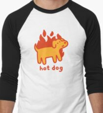 Hot Dog Baseball ¾ Sleeve T-Shirt