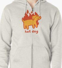 Hot Dog Zipped Hoodie