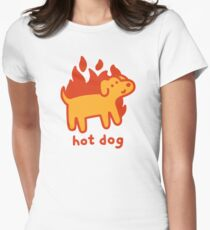 Hot Dog Fitted T-Shirt