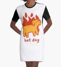 Hot Dog Graphic T-Shirt Dress