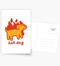 Hot Dog Postcards