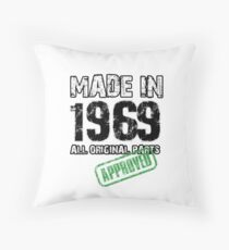50th Birthday Gifts Made in 1969 Throw Pillow