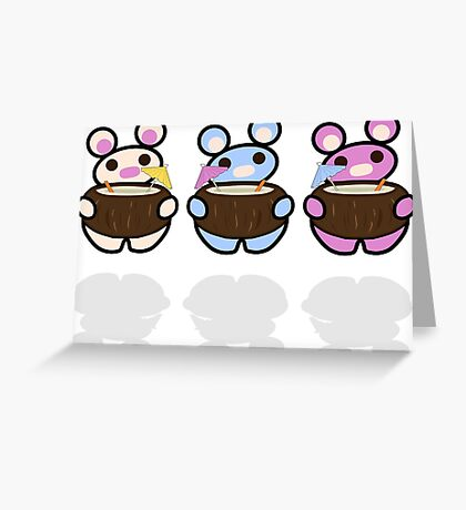 STPC: Three Chibis (Coconuts) Greeting Card