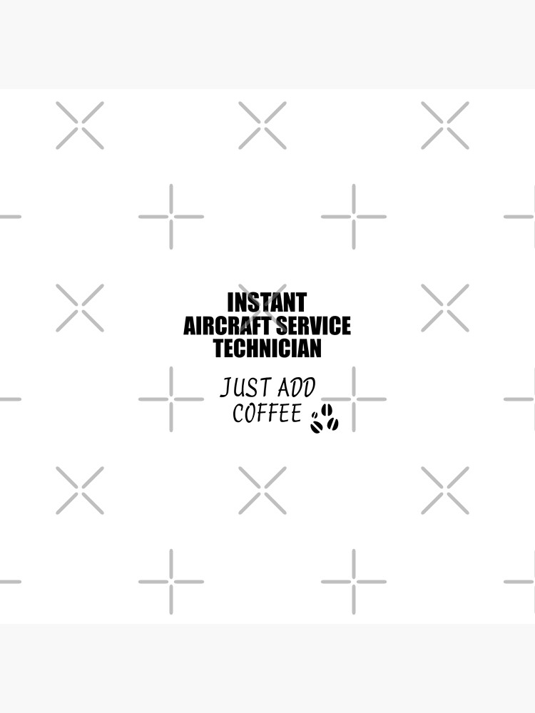 Aircraft Service Technician Instant Just Add Coffee Funny Gift Idea for Coworker Present Workplace Joke Office von FunnyGiftIdeas