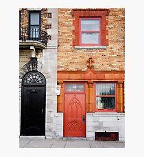Orange Facade Photographic Print