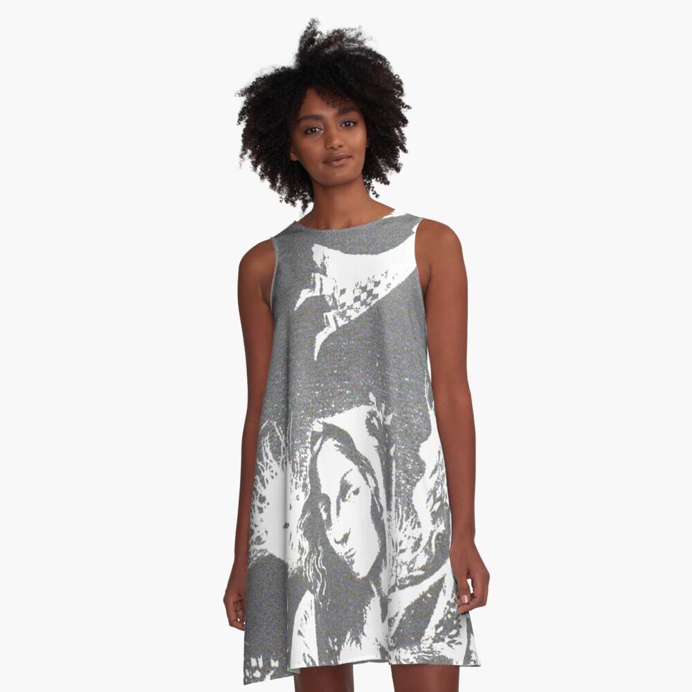 #art, #painting, #nature, #design, #pattern, #abstract, #textured, #oldfashioned, #retro, #wall A-Line Dress Front