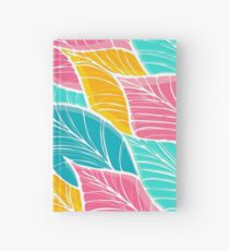 Beach Day Tropical Leaf Pattern Hardcover Journal