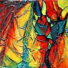 Abstract texture painting  - Brights by A little more Whirl