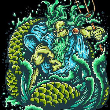 Poseidon or Neptune - god of the sea by Skullz23