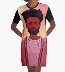 Kindischer Gambino-Sommer T-Shirt Kleid