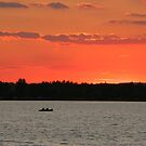 Summer sunset on a lake by christopher363