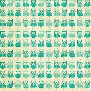 Owls,owl,green,beige,pattern,cute,preppy,pretty,modern,trendy by love999