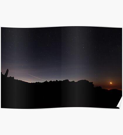 Sunrise from Mount Snowdon Poster