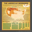 The American Beershed (gray)  by GuerrillaCarto