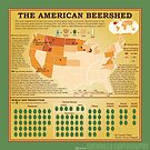 The American Beershed (green) by GuerrillaCarto