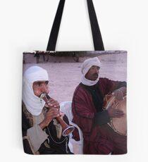 Musicians in the Sahara Desert Tote Bag