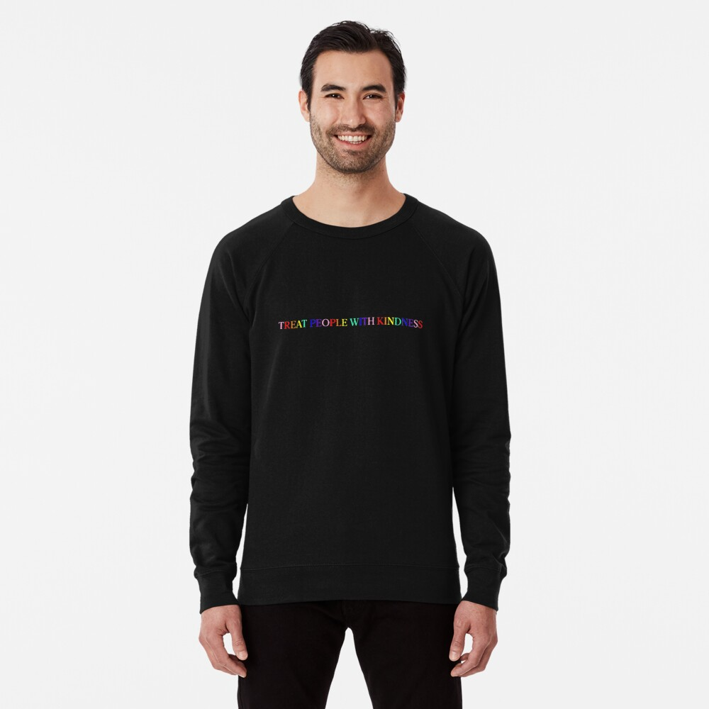Treat People With Kindness (Rainbow, Version 1) Lightweight Sweatshirt