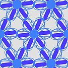 Blue And White Pattern by CarolM