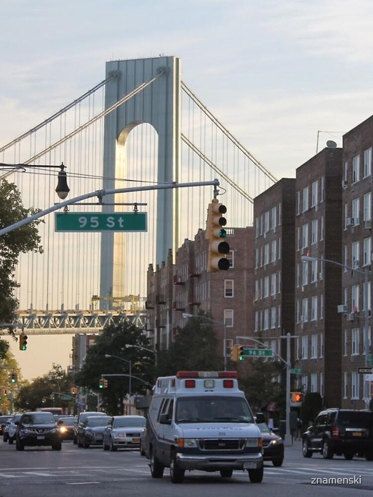 famous place, international landmark, #VerrazanoNarrowsBridge, #FortHamilton, #NewYorkCity, #USA, #american, #culture, #city, #road, #architecture, #street by znamenski