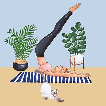 yoga and cats  by reyniramirezfi