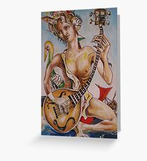 The Musician with bird Greeting Card