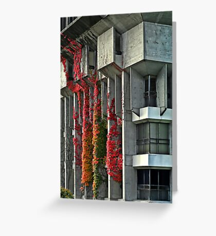 Building on fire Greeting Card