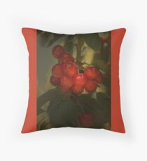 Cherries to Die For Throw Pillow