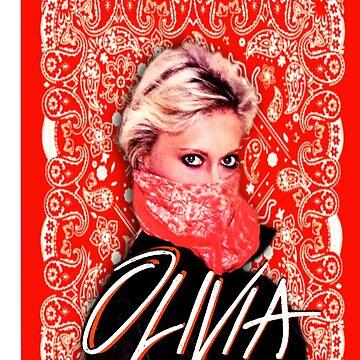 Olivia Newton-John - total heiß - Red Bandana - 1970er Jahre von retropopdisco