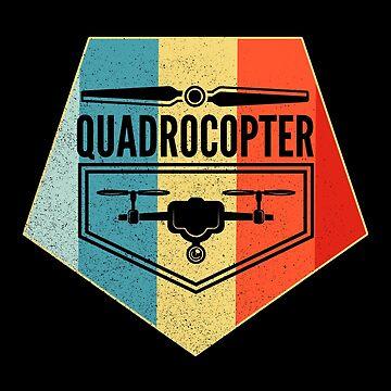 Quadrocopter Shirt Retro Drone T-Shirt by LuckyU-Design