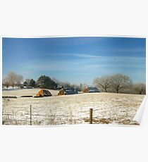 WINTER COUNTRY SCENE Poster