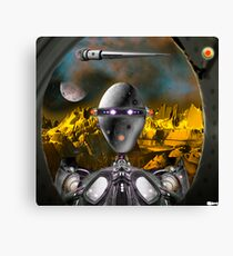 There's a 'droid at the door Canvas Print