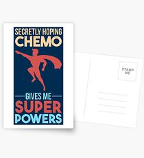 Chemo Gives Me Superpowers - Cancer Fighting Gift Postkarten