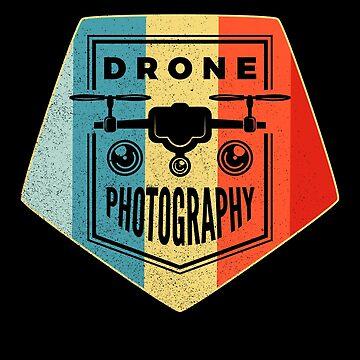 Quadrocopter Photography Shirt Retro Dronen Shirt by LuckyU-Design