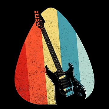 Guitar Guitar Pick Retro Vintage Rock & Roll Shirt by LuckyU-Design