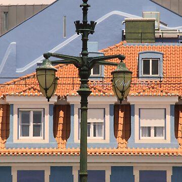 lisbon street lamps. Praça Duque da Terceira. by terezadelpilar