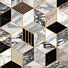 Marble Cubes 2 - Black and White by Zoltan Ratko