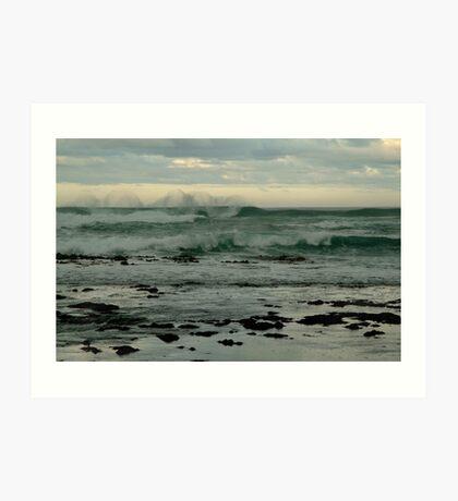 Wispy Surf, Great Ocean Road Art Print