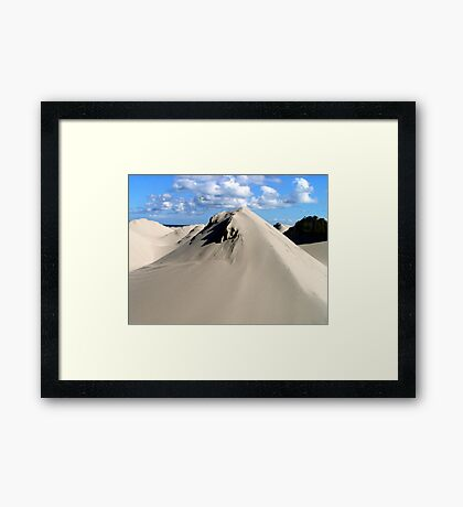 Pyramids of sand Framed Print